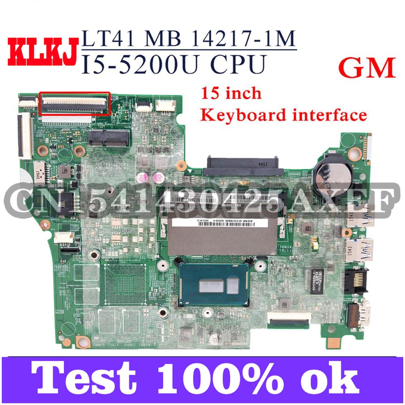 KLKJ LT41 MB 14217-1M Laotop اللوحة لينوفو اليوغا 500-15IBD FLEX3-1570 (15 بوصة) الأصلي اللوحة الرئيسية I5-5200U جنرال موتورز