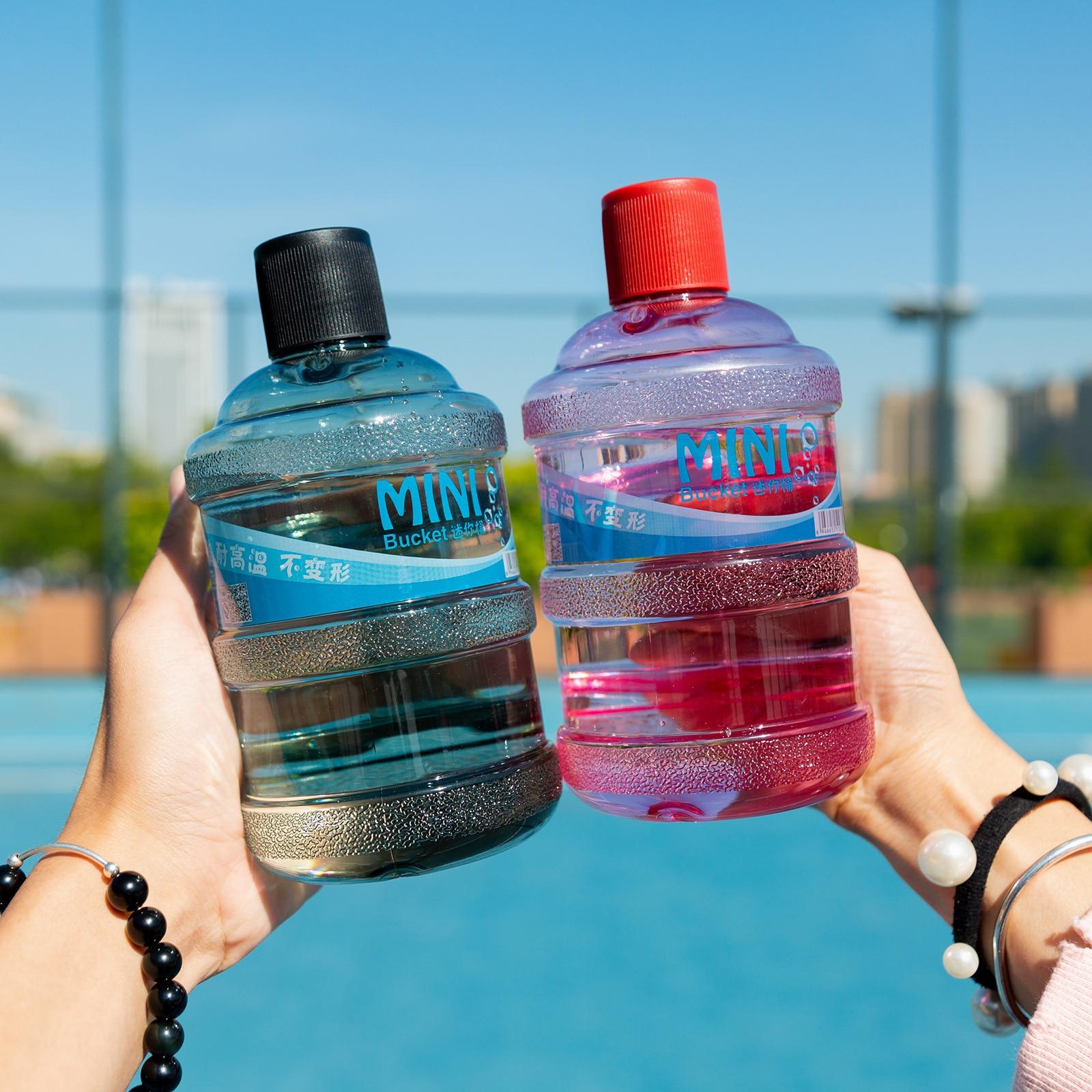 630ml Cartoon Bucket Drink Water Bottle Cup Plasticu Nique for Baby Kids Children Student Boy Girl Creative Gift Wholesale