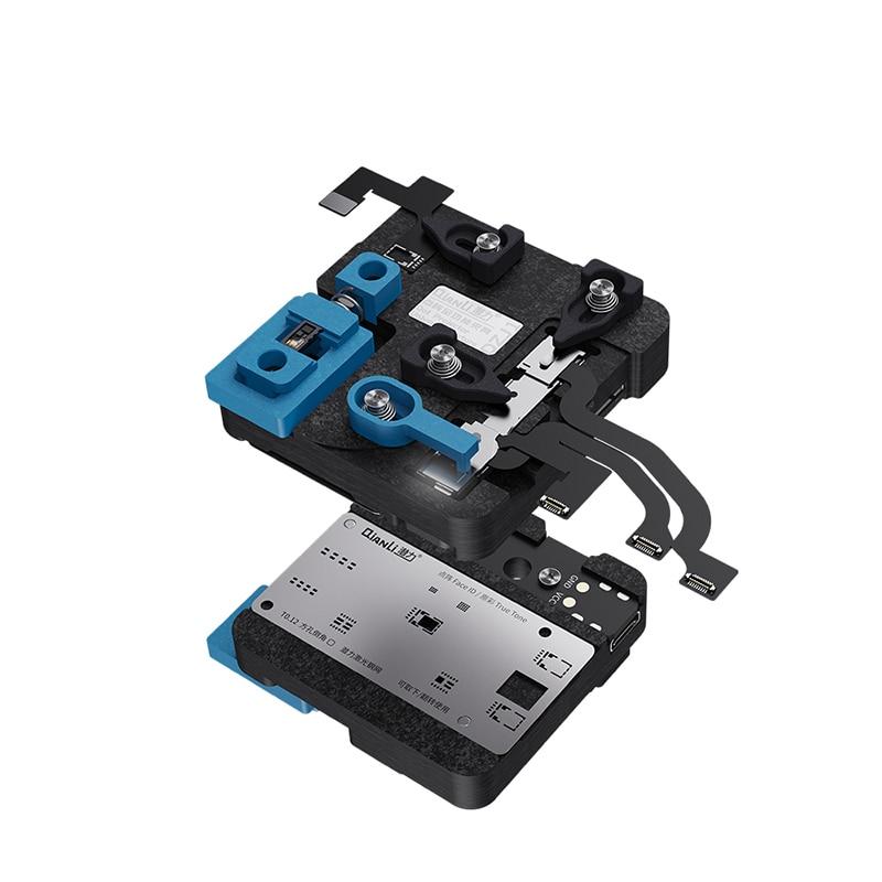 Qianli Universal Dot Matrix Repair Fixture for X XS XSMAX 11 11pro Max Face ID Front Camera Repair Holder With Intelligent Light