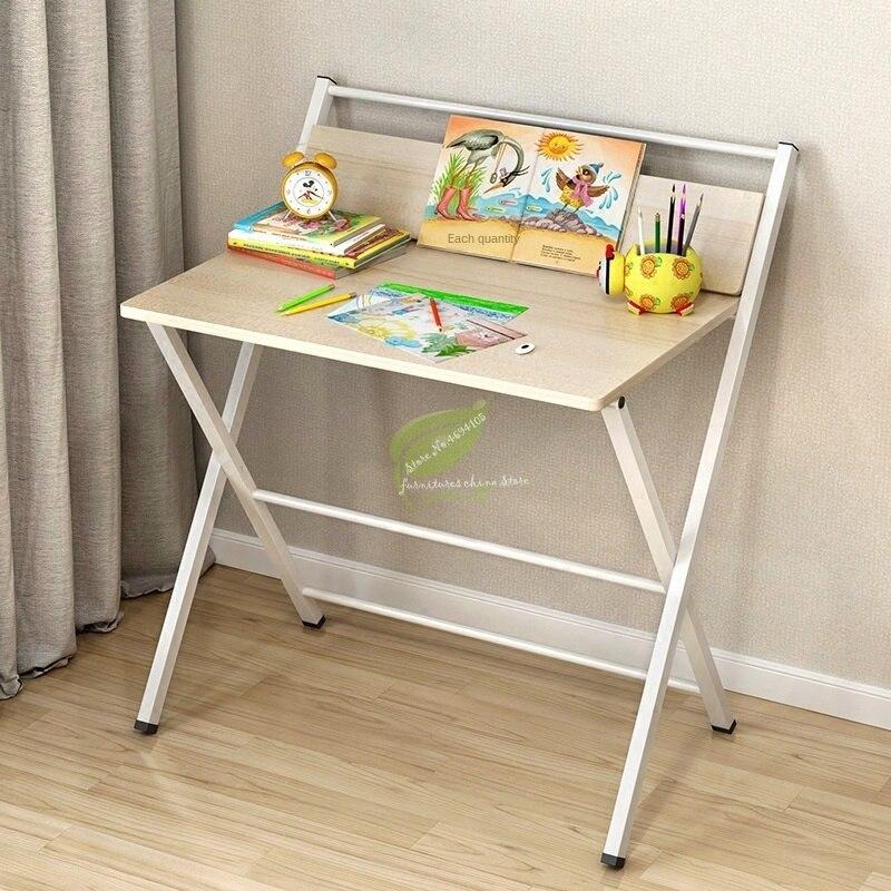 Escritorio Simple, escritorio para ordenador, hogar, oficina, mesa plegable, patas de acero, escritorio de aprendizaje, estante de almacenamiento para ordenador portátil, soporte para mesa plegable al aire libre