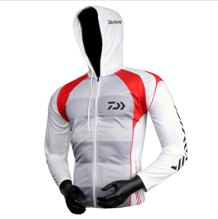 New DAIWA Fishing Clothing Hooded Men Jacket Waterproof Quick-Drying Coat Fishing Shirt For Hiking Cycling Fishing Clothes Pesca