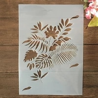a4 29cm boardleaf branch diy layering stencils wall painting scrapbook embossing hollow embellishment printing lace ruler