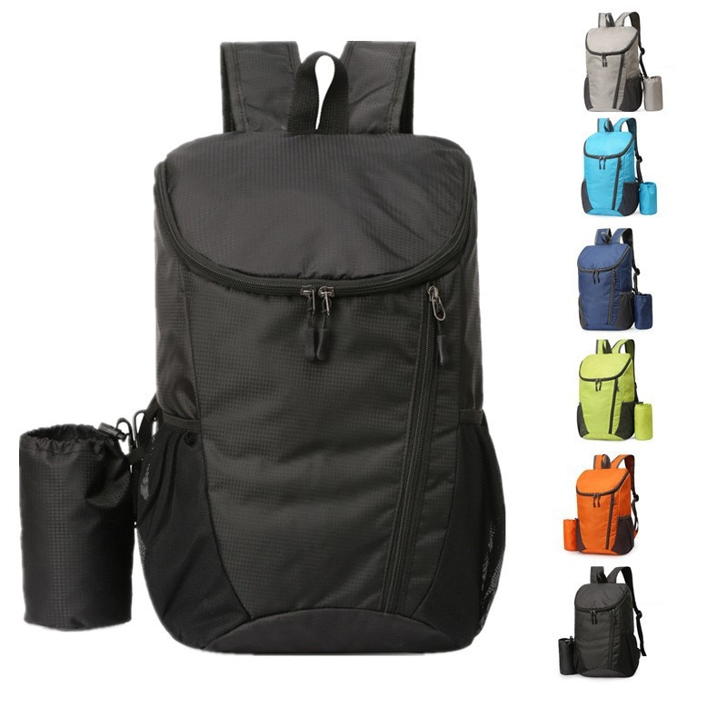 Outdoor lightweight foldable backpack portable water proof simple travel backpack for men and women