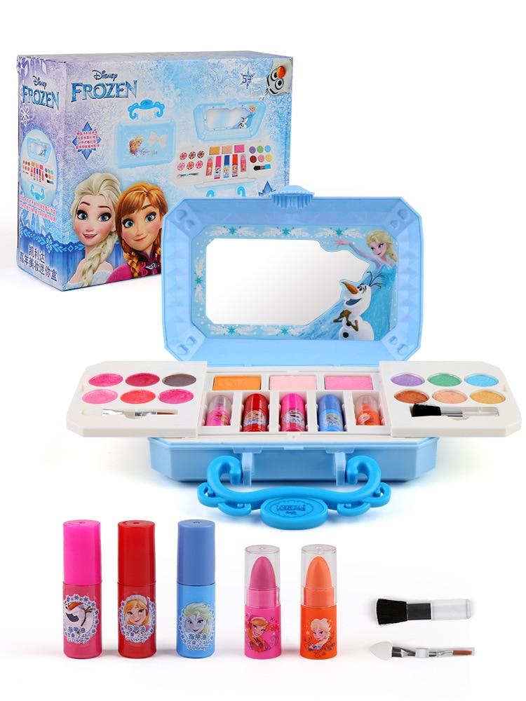 New Disney Girls Frozen Elsa Anna Cosmetics Beauty  Set Toy Kids Snow White Princess Fashion Toys Play House  toys for girls