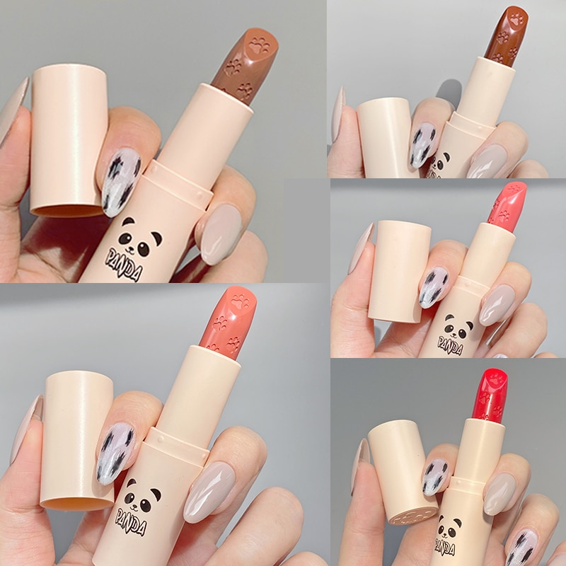 Velvet Matte Texture Lipstick Paw Print Design Waterproof Lipstick Natural Moisturizing Non-stick Cu
