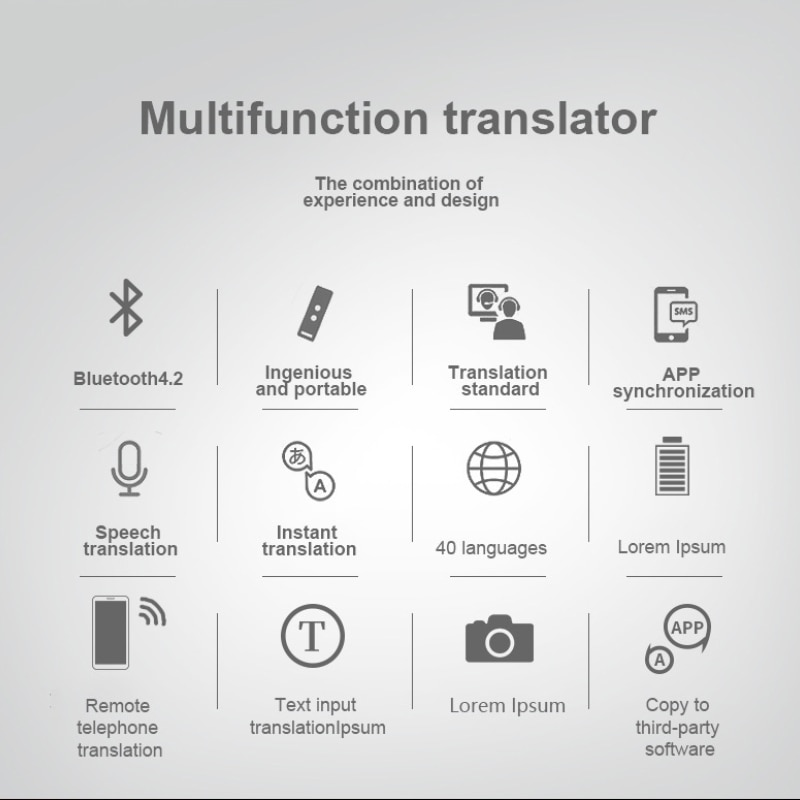 2021 New 8+ Smart Voice Speech Translator Two-Way Real Time 45+ Multi-Language Translation For Learning Travelling Business Meet enlarge