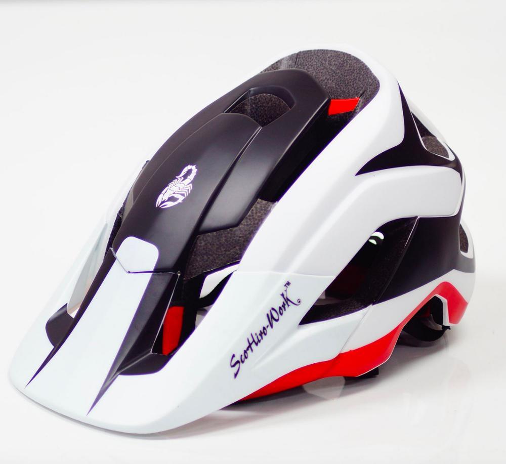 Scohirowork capacete da bicicleta tinta preta verde ciclismo capacetes de estrada mountain bike capacete tampa interna casco capacetehelmet