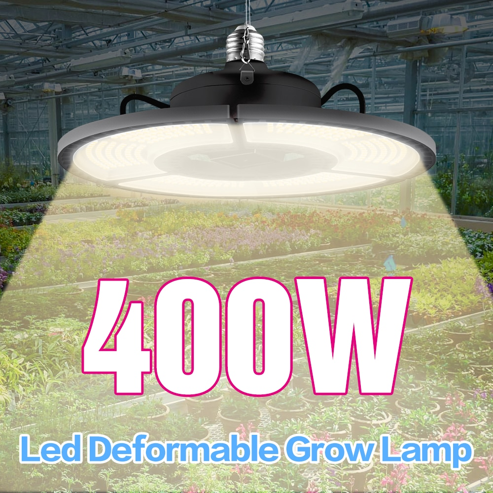 e27 led grow light white 100w 200w 300w 400w led plant light bulb 110v e26 led full spectrum growing lamp 220v greenhouse lamp Plant Lamp E27 Growing Light Waterproof LED Full Spectrum LED Grow Tent Hydroponic Light 100W 200W 300W 400W E26 Growth LED Bulb
