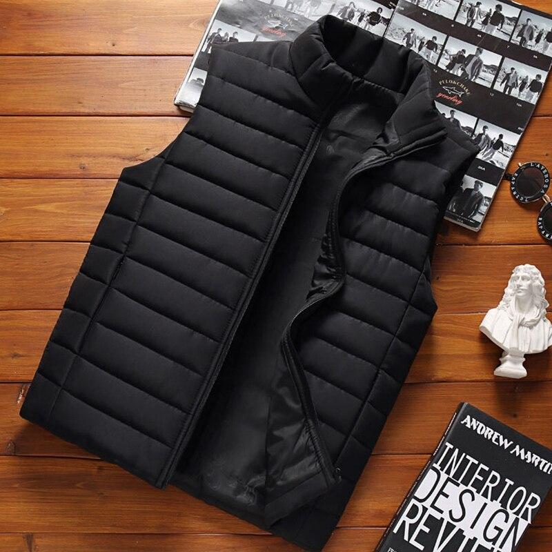 Мужской жилет без рукавов Aiwetin, зимние модные мужские жилеты с хлопковой подкладкой, пальто, мужские теплые жилеты с воротником-стойкой, оде...