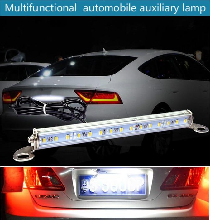 For Mazda Waterproof Rear Tail Lamp Hooligan Lamp of Super-bright LED License Back Lamp Auxiliary Lamp Flash Brake Lamp Modified