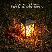 1 pcs traditional style solar lamps outdoor ip55 waterproof led candle solar lantern garden yard decorative lamp outdoor lightin