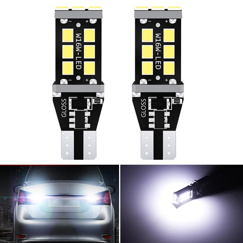 2x canbus t16 t15 w16w lâmpadas led 2835 smd carro back up lâmpada traseira para bmw série 5 e60 e61 f10 f11 f07 mini cooper luzes reversa