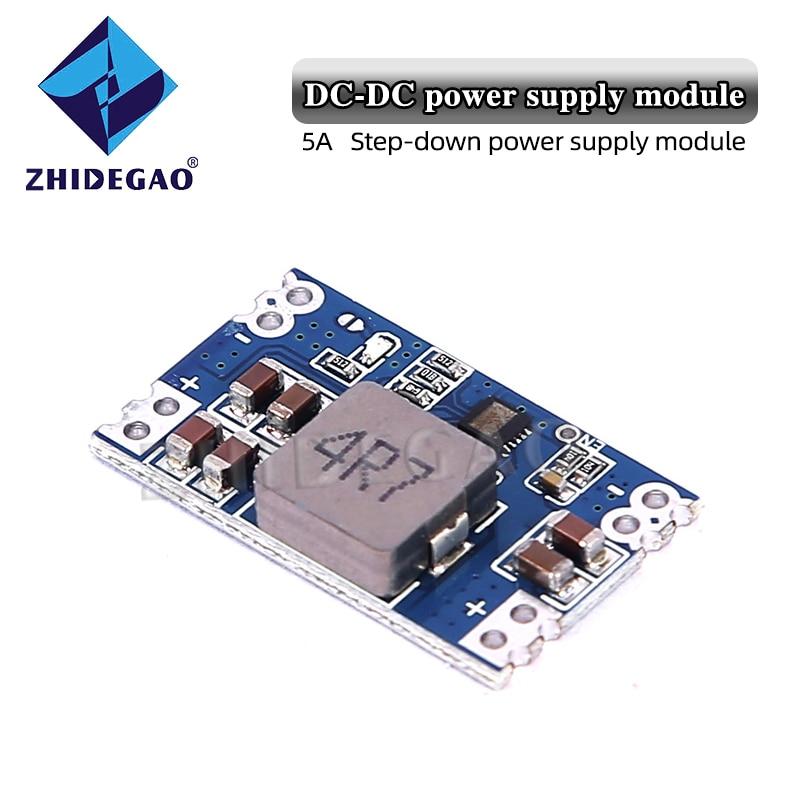 Zhidgao MP1584EN DC-DC модуль источника питания с стабилизацией напряжения 5A понижающий стабилизатор напряжения модуль регулятора напряжения 5 В-12 в ...