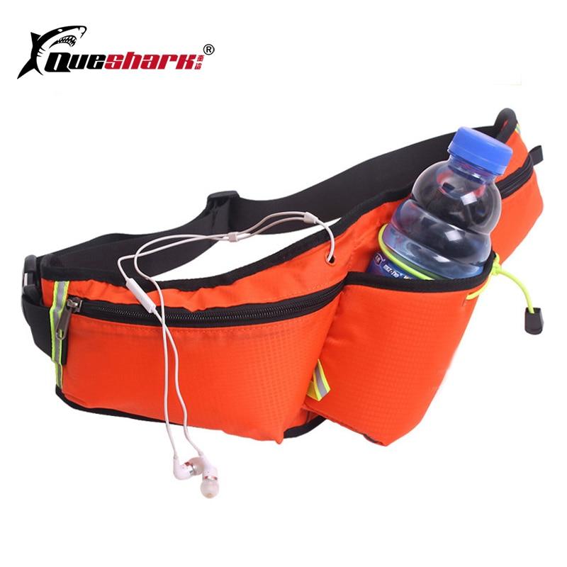 Riñonera reflectante, resistente al agua, con soporte para botella de agua, riñonera para correr, riñonera deportiva para exteriores, bolsa para cintura de maratón, 6 pulgadas