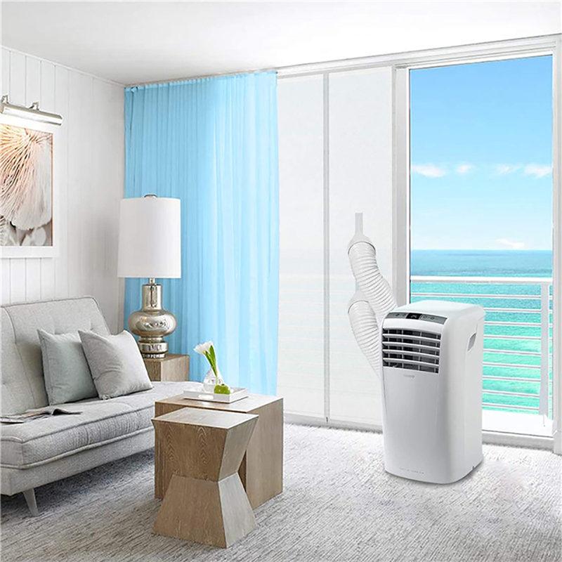 Bloqueo de aire ventana sello Placa de tela 90x210CM cremallera pantalla puerta sello ventana puerta corredera sello deflector para aire acondicionado móvil U3