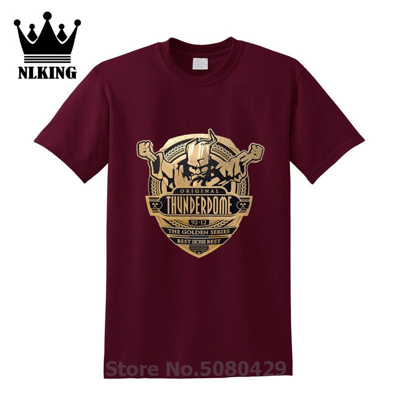 Волшебник Thunderdome ID & T Hardcore футболки из 100% хлопка для женщин и мужчин Thunderdome техно и габбер футболки с круглым вырезом Футболка