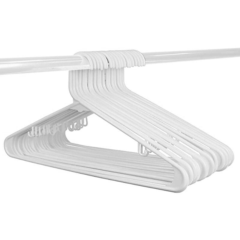 أعواد بسيطة وفاخرة من 50 علاّقات بلاستيكية عالية الجودة قياسية بيضاء