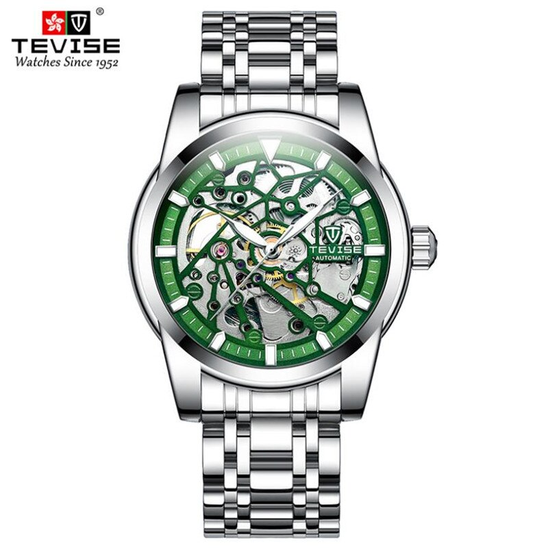 TEVISE Top Brand Luxury Men Automatic Mechanical Sports Watches Male Military Steel Luminous Hand Sk