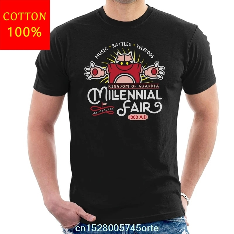 Camisa de algodão 100 das mulheres do tshirt dos homens da feira do millennial do disparador do crono impresso