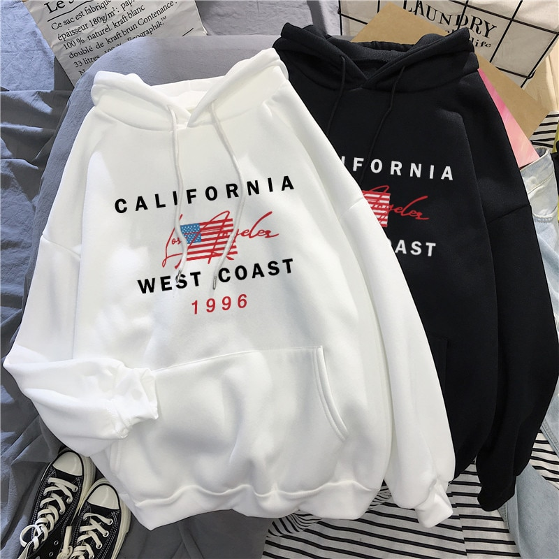 Inverno quente eua carta impressão streetwear hoodie moletom com capuz pulôver chique casual vintage solto feminino casaco harajuku topos