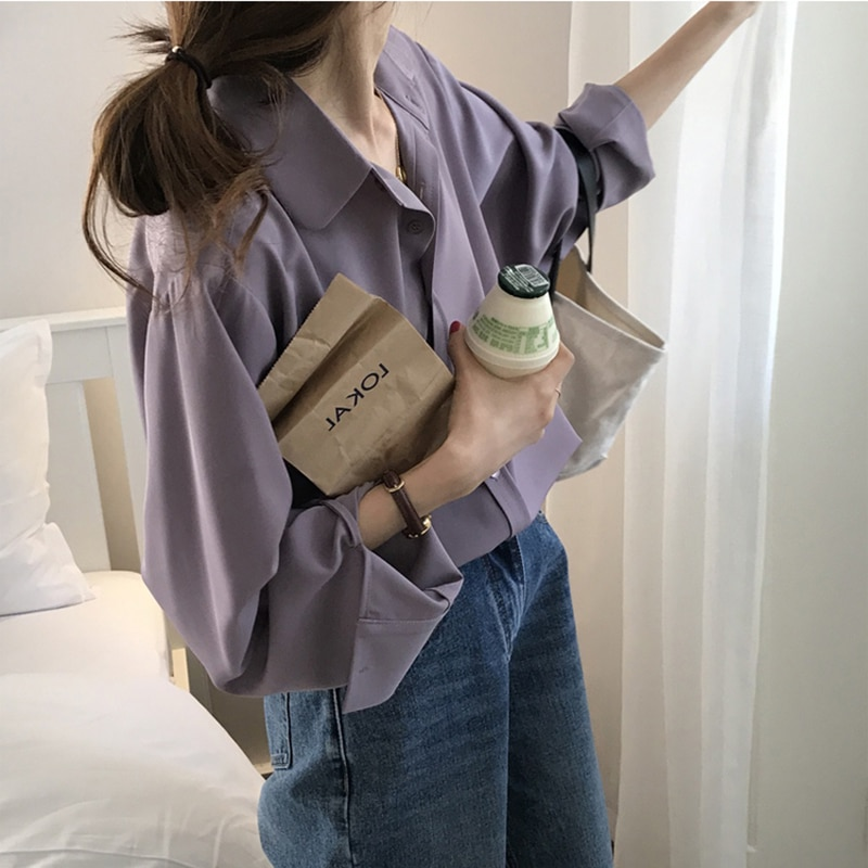 French Female Shirt Design Niche New Style 2021 nian Spring and Autumn Women's Long-Sleeve Shirts ga