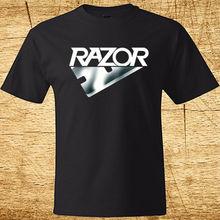 Nouveau rasoir poubelle métal Rock Band Logo hommes noir T-Shirt taille S-3XL 100% coton 100% coton lettre imprimé t-shirts haut T-Shirt