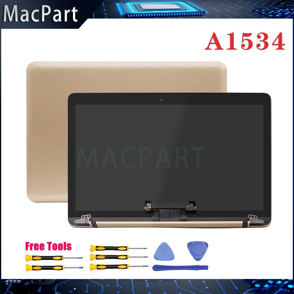 """Nueva pantalla de ordenador portátil completamente probada Original LCD ensamblaje oro plateado para Macbook Retina 12 """"A1534 Early 2015 2016 2017 Año"""