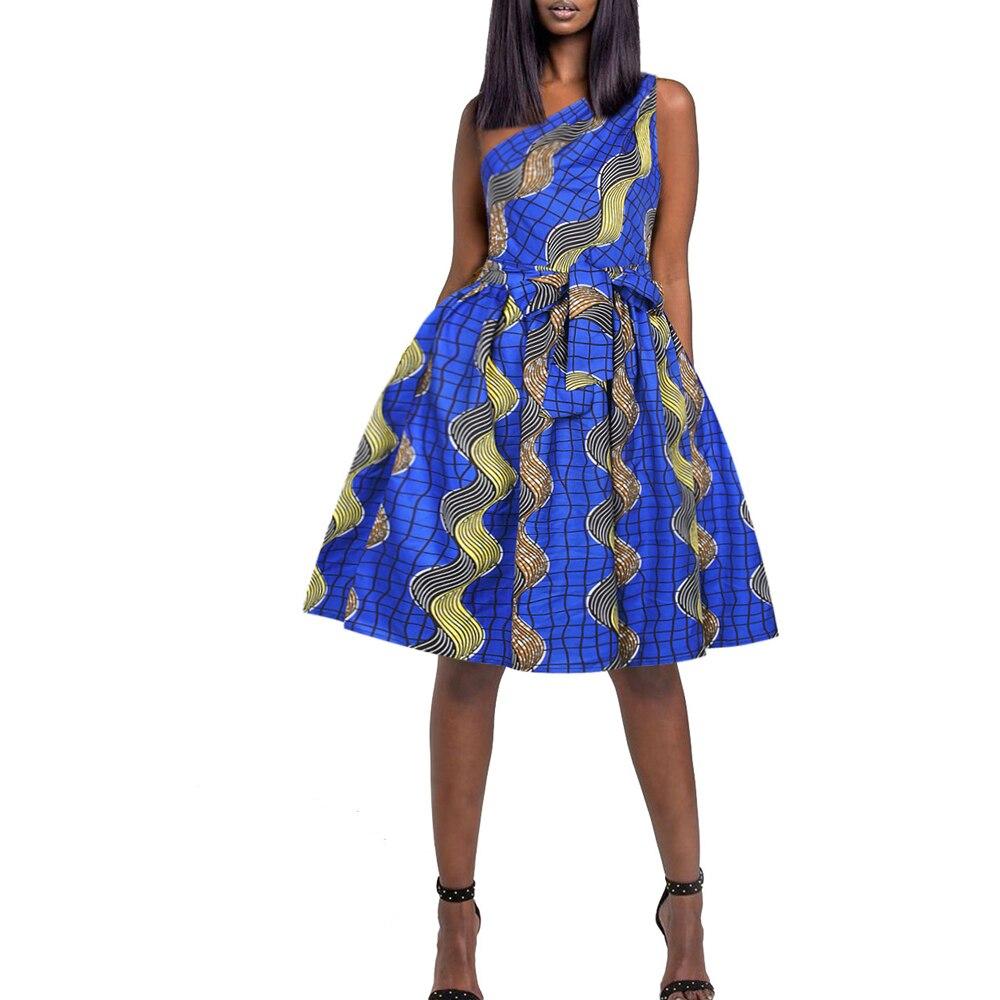 Novedad de verano, vestidos africanos para mujer, vestido informal, ropa Europea americana, ropa africana para mujer, ropa de dama, ropa americana
