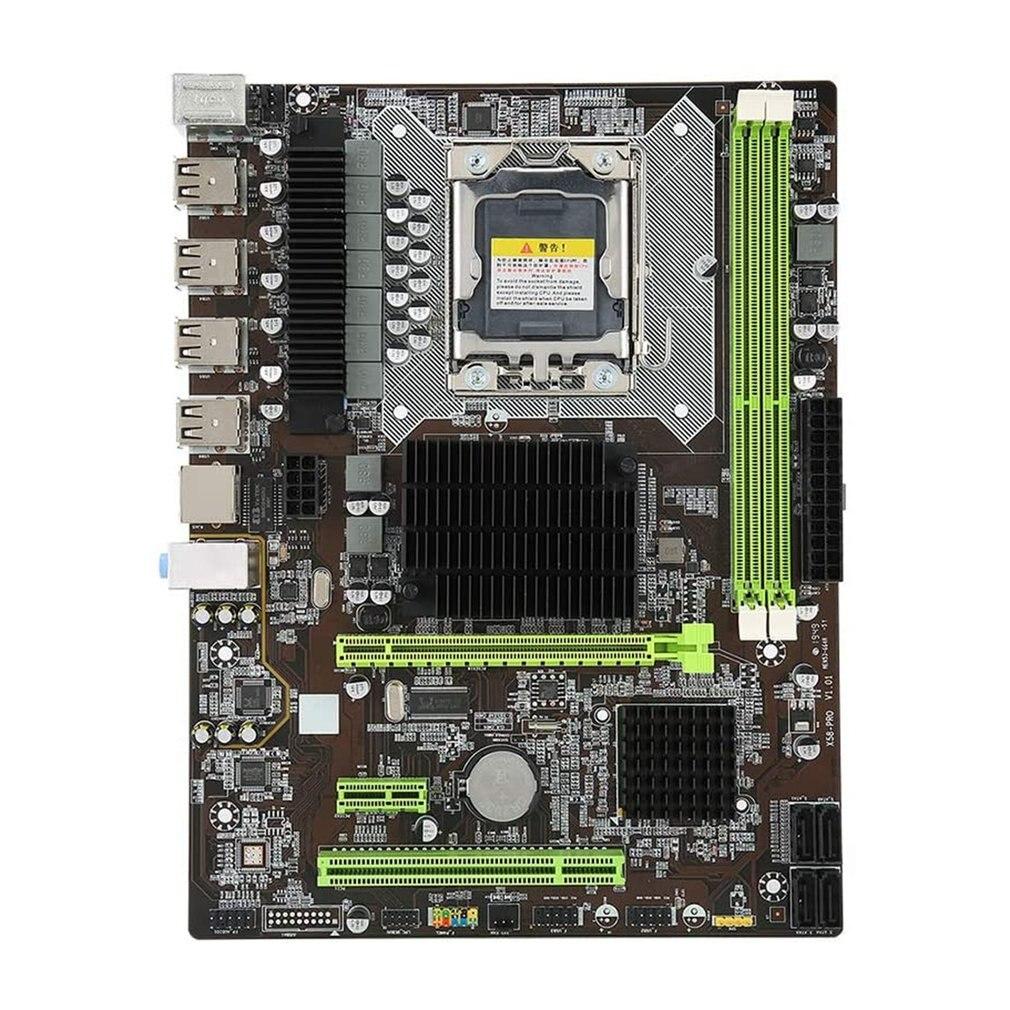 اللوحة الرئيسية X58 برو لوحة كبيرة DDR3 يدعم بطاقة N بطاقة كمبيوتر مكتبي اللوحة الرئيسية جيجابت بطاقة الشبكة