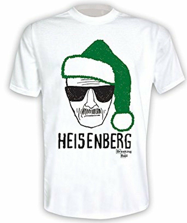 Breaking Tee Bad - Heisenberg Hat Santa Navidad (verde)-Oficial Mens camiseta adulto verano Streewear tamaño S-3Xl