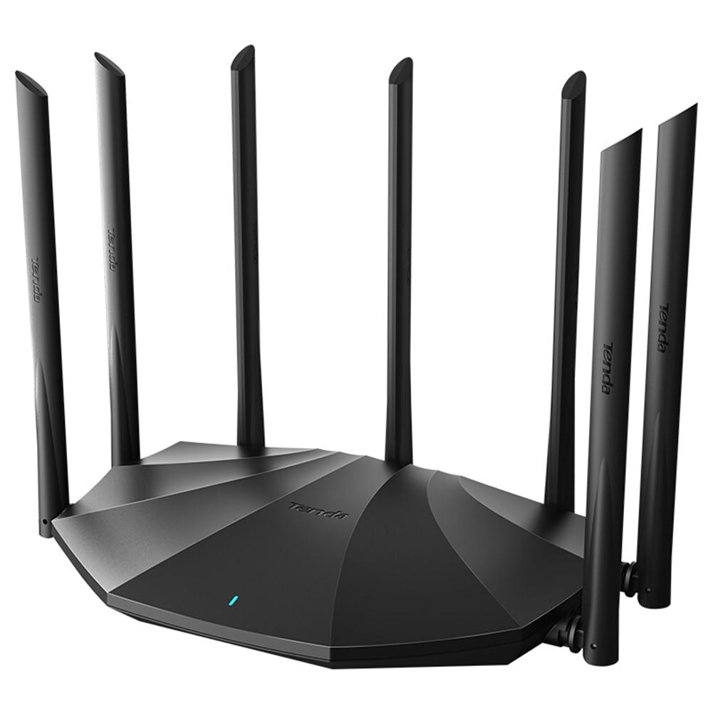 Tenda AC23 Router Gigabit 2.4+5GHz Dual-Band 2100M Wireless Router Wifi Repeater Network + 7x 6dBi High Gain Antennas Wider