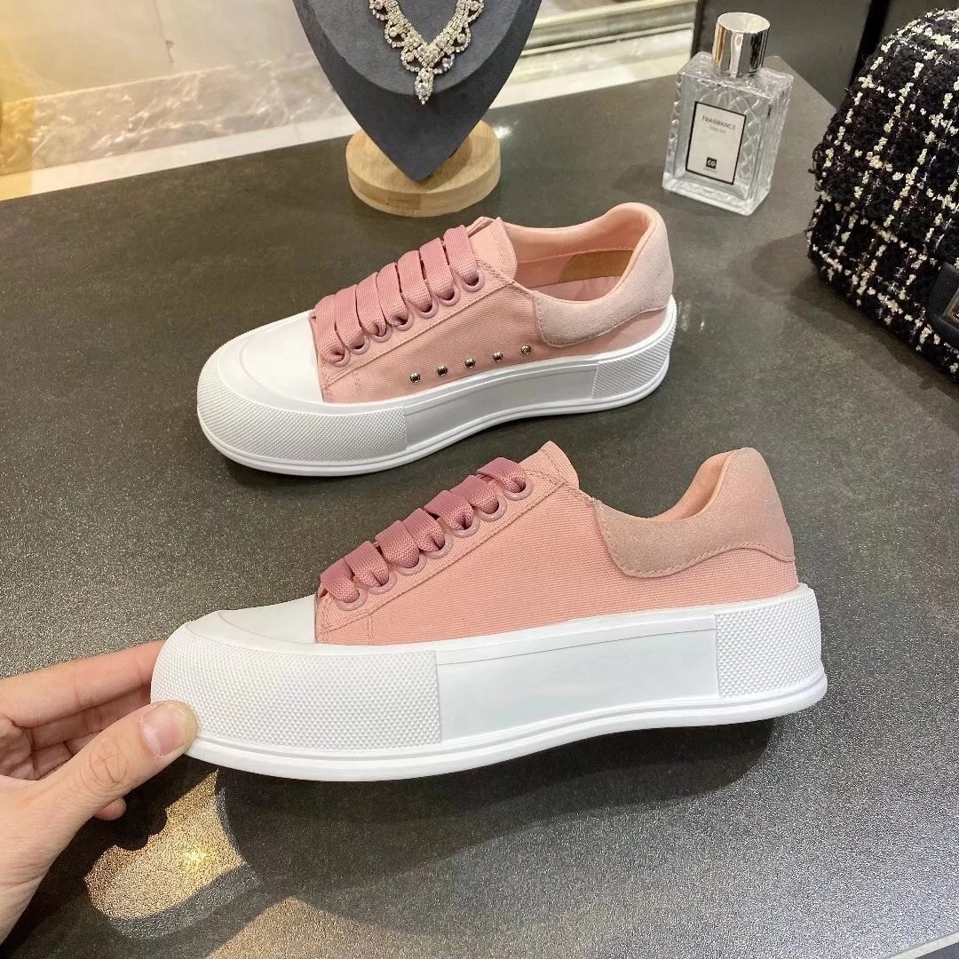 Womens shoes spring/summer 2021 new white lovers muffins all-match casual mens tide canvas