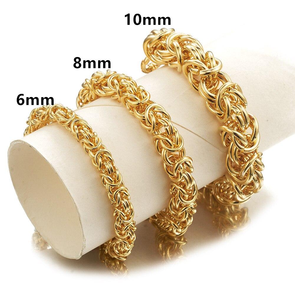 Pulseras de Color plateado para hombre brazaletes de oro 316L, pulsera de acero inoxidable, cadena de mano, accesorio para hombre, joyería de Hip Hop para fiesta de Rock