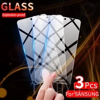 3Pcs Screen Protector Tempered Glass for Samsung Galaxy A51 Note 20 10 S10 Lite S20 FE A32 A72 A52 A71 S21 Plus Protective Glass