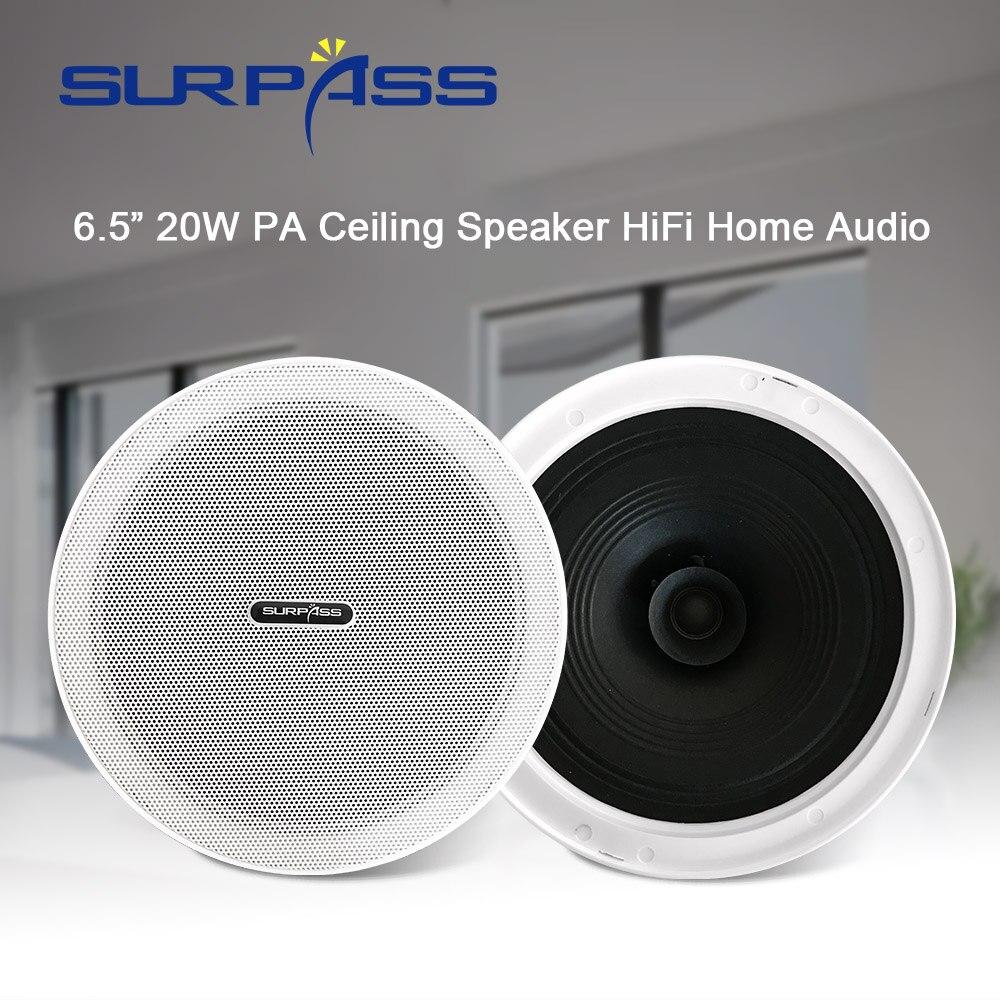 عالية الجودة الرئيسية مكبر الصوت موضة مادة تسقيف للأسطح مكبرات الصوت 6.5 بوصة مكبر الصوت بدون إطار حافة ضيقة قذيفة للحمام المطبخ