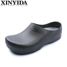 Hotel Kitchen Clogs Non-slip Chef Shoes Casual Flat Work Shoes Breathable Resistant Kitchen Cook Wor