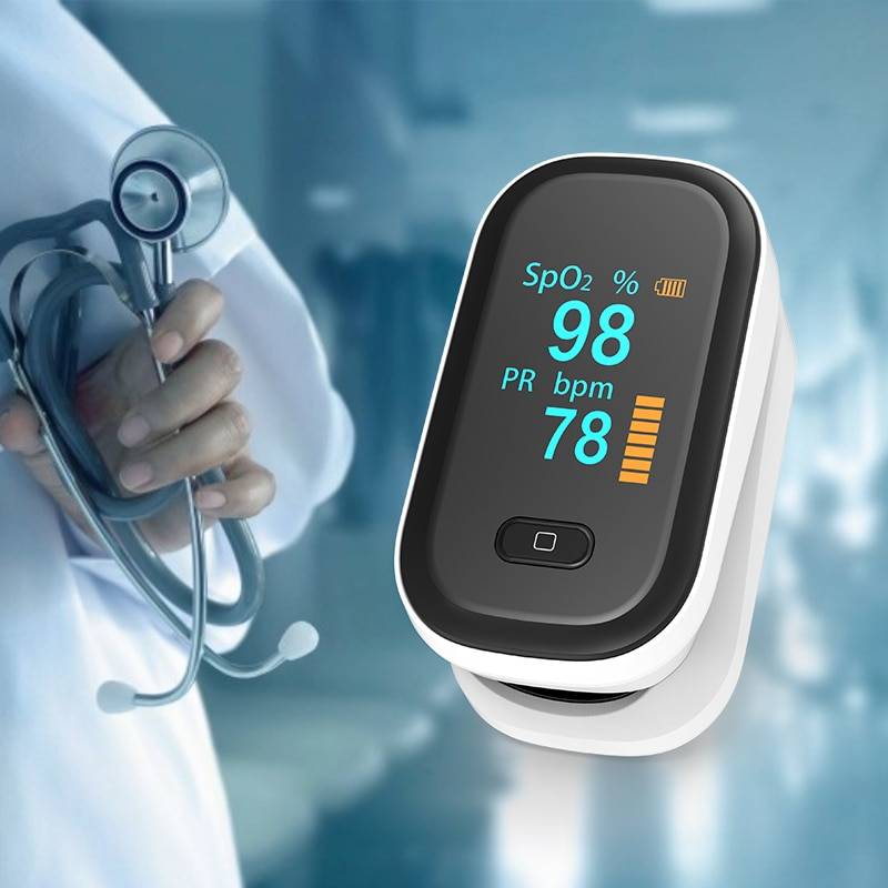 Pulse Oximeter SpO2 OLED Portable Finger Oximeter Heart Rate Monitor Blood oxygen Saturation Meter Household Health Monitors