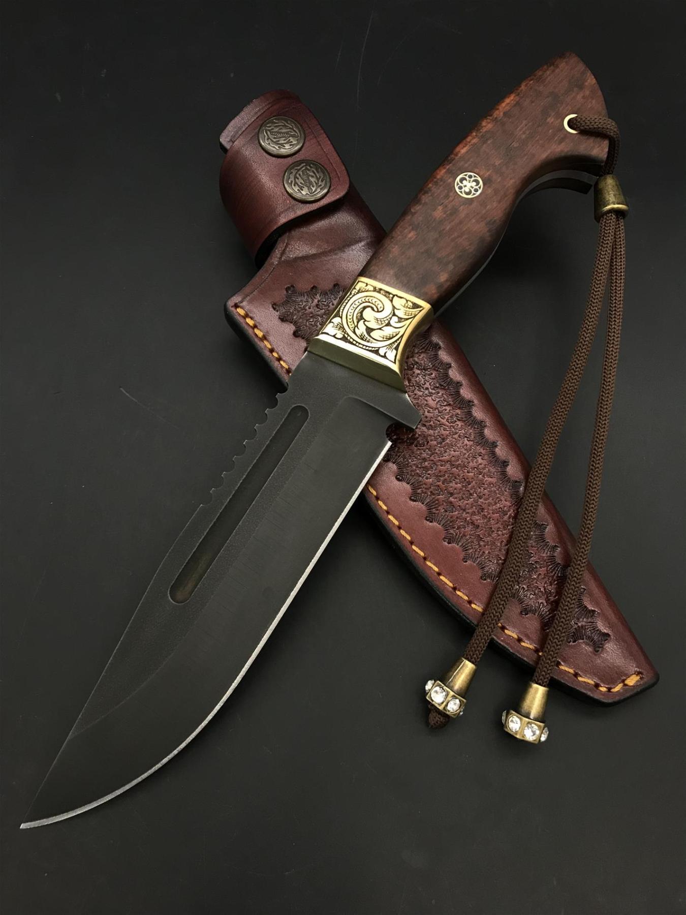 Handmade Engraved Uddeholm Sleipner Knife TK92