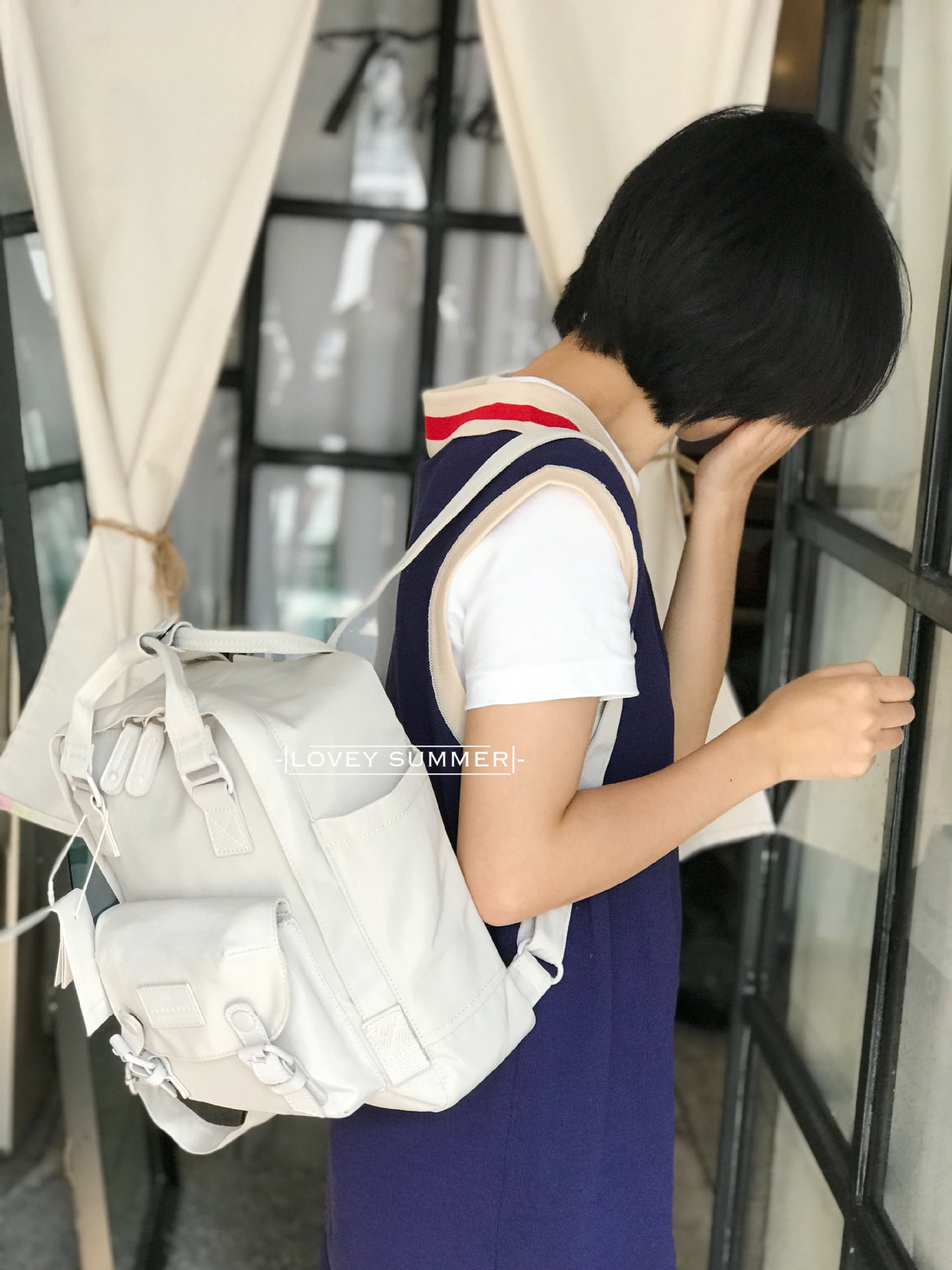 You summer doughnut Backpack NEW pure color famille rose series Korean small fresh travel outdoor Backpack недорого