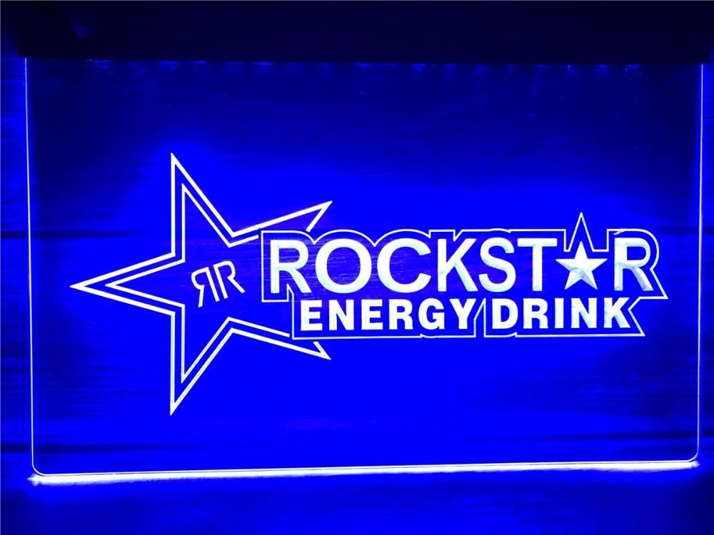 Señales de luz de neón LED de Bar de cerveza con bebida de energía de estrella de rock A228