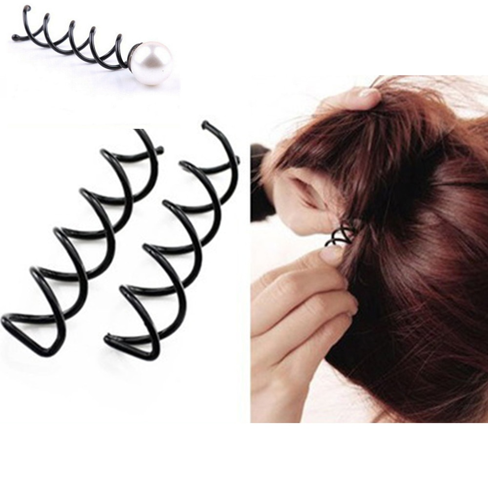 10/5 шт. пиралевые шпильки для волос, спиннинговые шпильки, круглые наконечники без царапин, спиралевидные шпильки для волос для женщин, булоч...