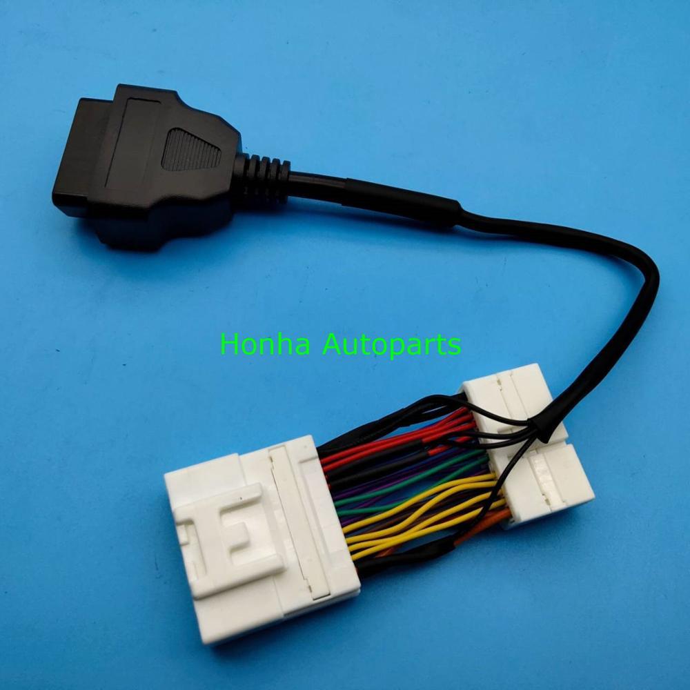 26 pin macho conector hembra Tesla modelo 3 OBD II de diagnóstico arnés de cable electrónico de nueva energía del vehículo