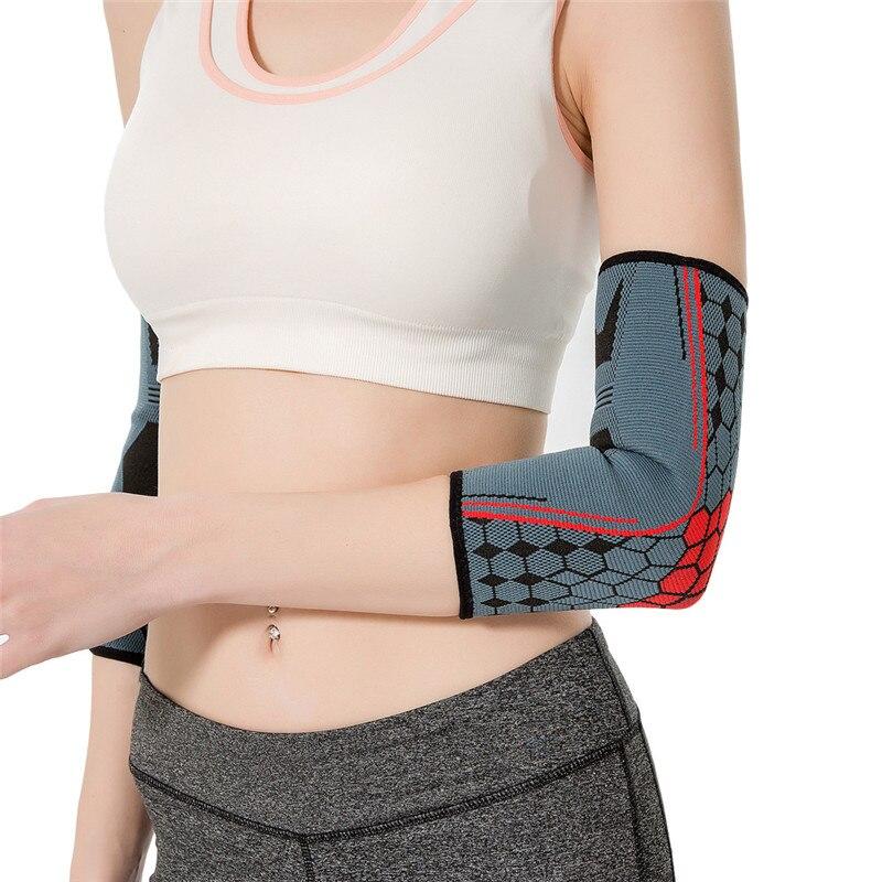 Manga de brazo de baloncesto Codera tejida para prevenir lesiones tenis deporte brazo envoltura para danza bicicleta fútbol gimnasio Codera acolchada