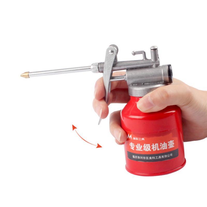 Lata de aceite engrasador lubricación aceite Metal máquina de plástico olla de aceite manguera extendida bomba de alta presión pistola de grasa herramienta de inyector de coche