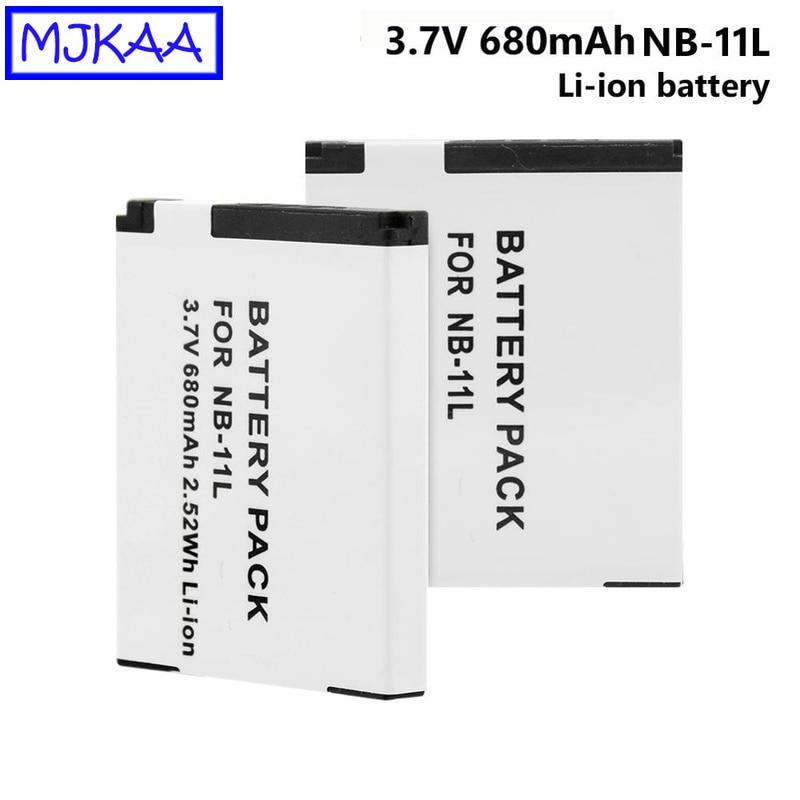Mjkaa 2 pces NB-11L 3.7 v 680 mah 2.52wh li-ion câmera bateria para canon powershot a2400is a3400is a4000is ixus 125hs 240us