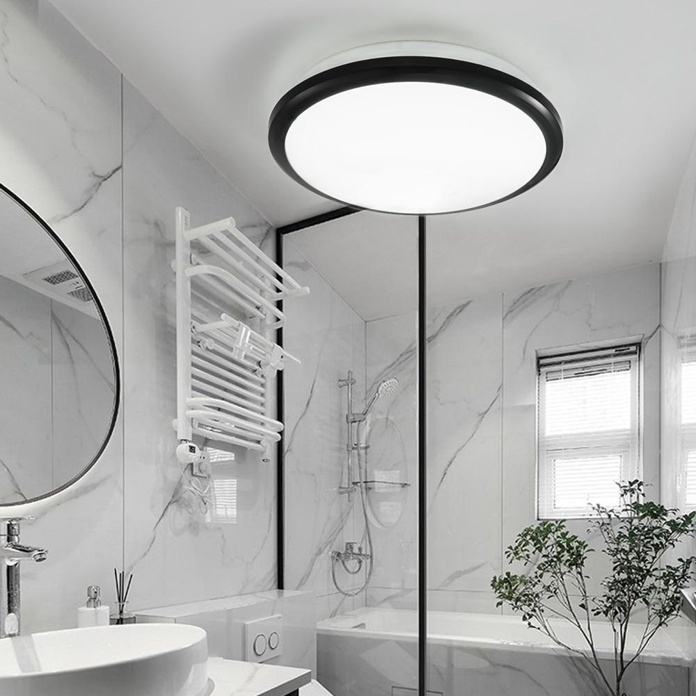 Современный светодиодный потолочный водонепроницаемый светильник Zerouno, круглая лампа для ванной комнаты, туалета, 30 Вт, датчик движения, до...