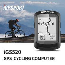 Велокомпьютер IGPSPORT IGS520, умный водонепроницаемый беспроводной Спидометр 2,3 дюйма, Bluetooth 5,0, GPS, велосипедные аксессуары