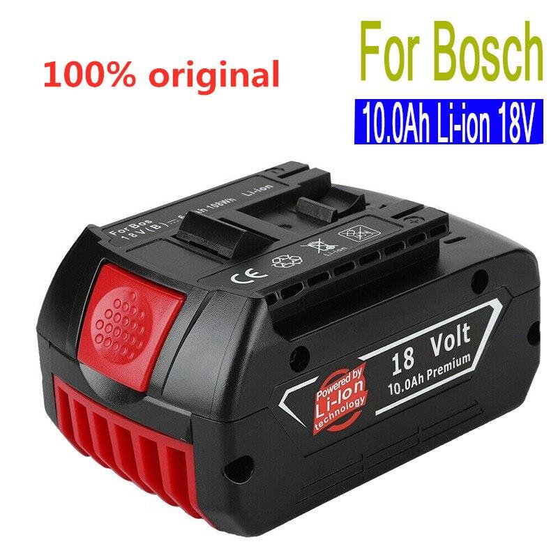 18V 10,0 Ah 10000 mah Lithium-ionen-akku Tragbare Ersatz Batterie Backup Batterie Anzeige licht Für Bosch BAT609