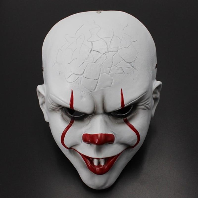 Artículo de la máscara de resina de Cosplay de payaso Pennywise Capítulo dos accesorios de disfraces de Halloween