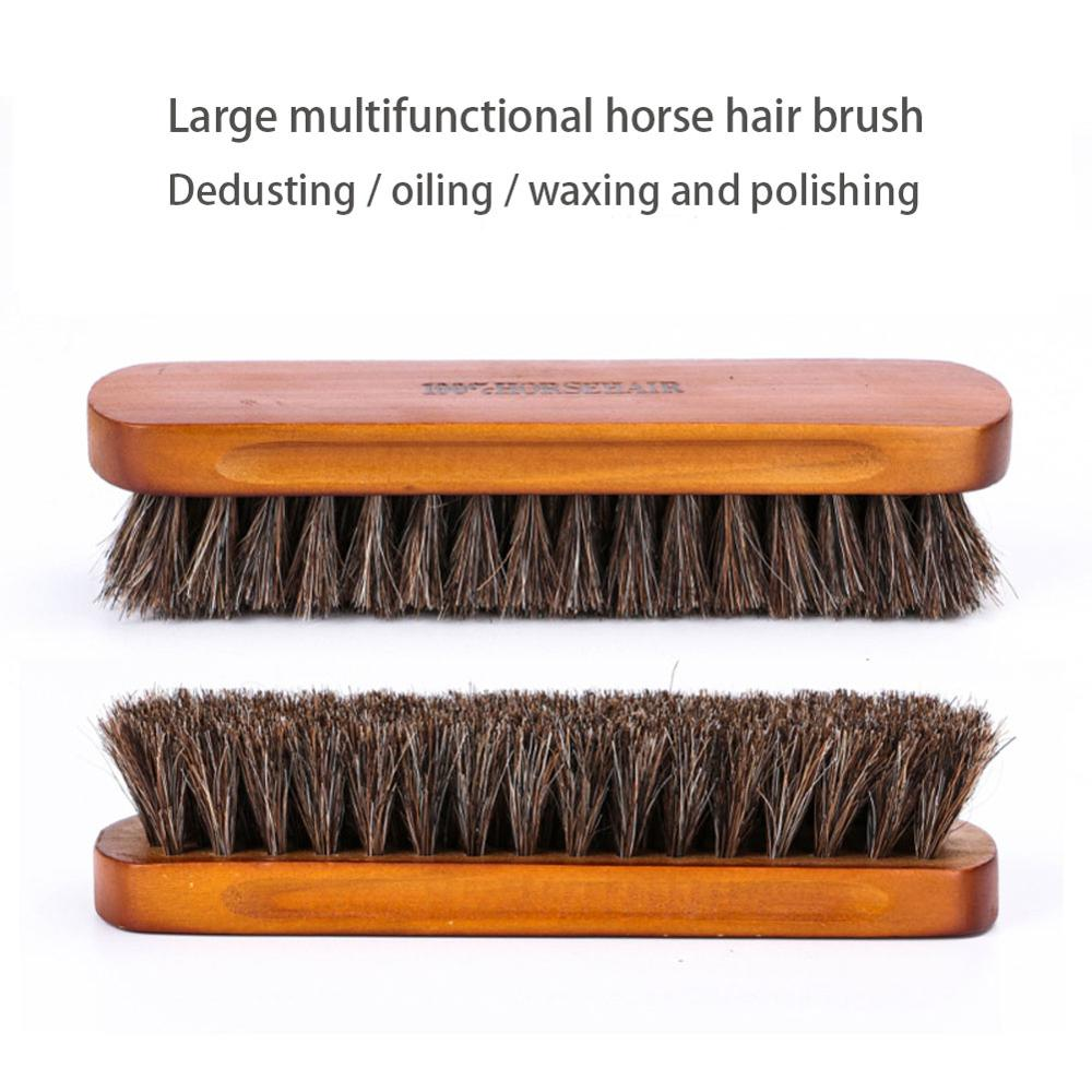 Horseshoe shoe brush polish real natural horse polishing tool soft bootpolish cleaning brush for suede nubuck boot
